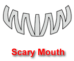 Scary Mouth Pumpkin Carving Template