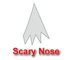 Scary Nose Pumpkin Carving Template