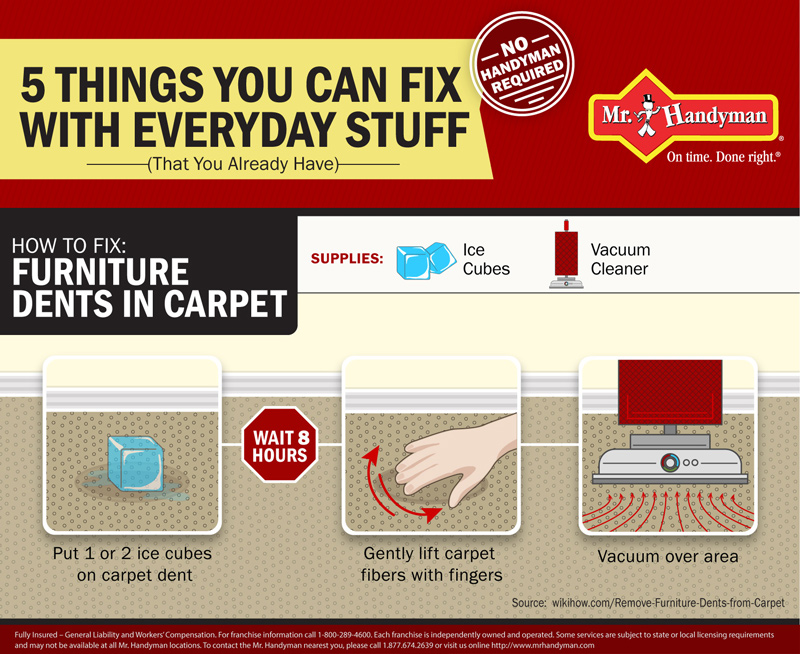 5 things you can fix with everyday stuff infographic