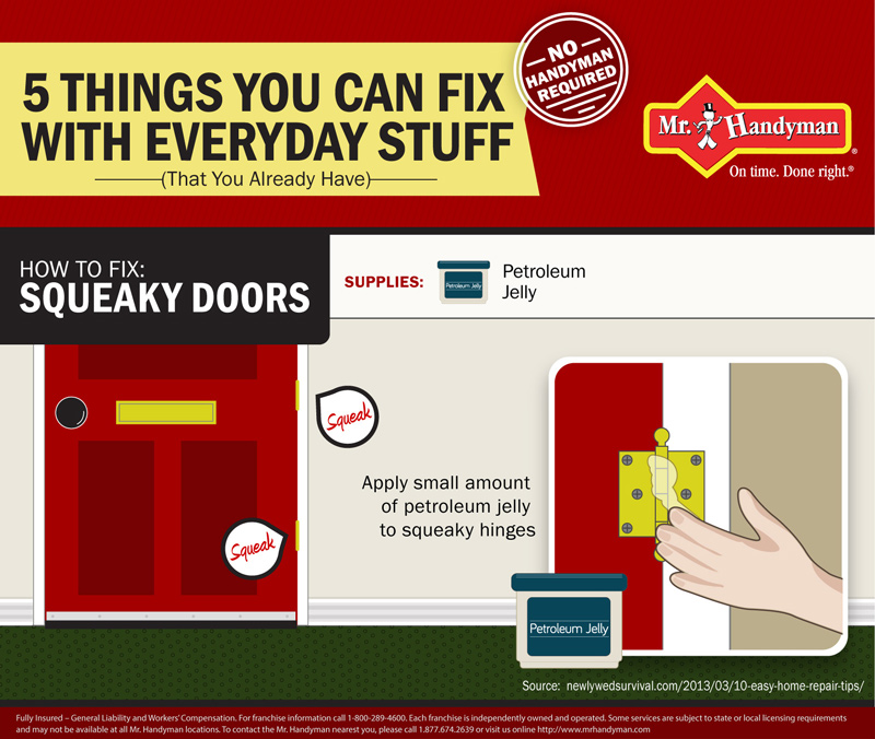 How to fix squeaky doors infographic