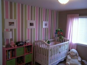 striped baby's room
