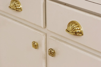 handle details on cabinets and drawers