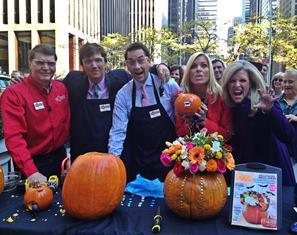 Pumpkin Carving In Times Square with Fox & Friends
