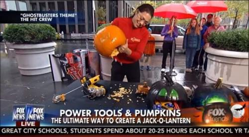 Power  tools and pumpkins Fox news segment