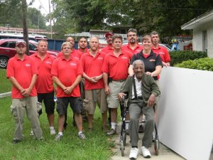 The Mr. Handyman of Northern Virginia Team with William Martin, World War II veteran.